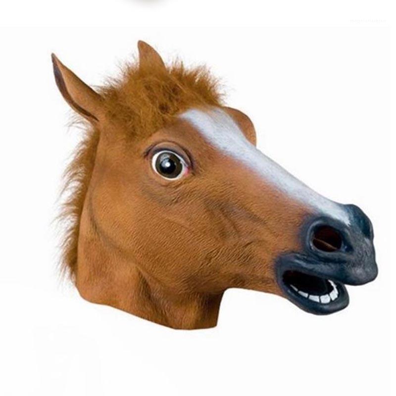 Partido unisex y gratuito Tamaño máscara de Halloween máscara divertida Todos los días Cabeza de animal máscara de la cabeza de caballo de la bola