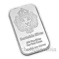 Scottsdale Argent 999 Argent Fin Un Troy Once 1 Bars Lingot En Dieu Nous Confiance Coin Avec Vitrine