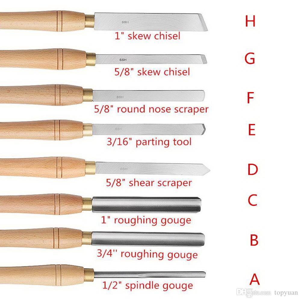 12PCS Talla de madera conjunto de cincel herramienta de mano profesional carpintería Gubias Acero E9