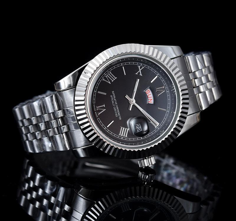 2019 럭셔리 Relogo 망 패션 시계 드레스 디자이너 더블 달력 골드 팔찌 다이얼 다이아몬드 접는 걸쇠 마스터 남성 40MM 선물 커플
