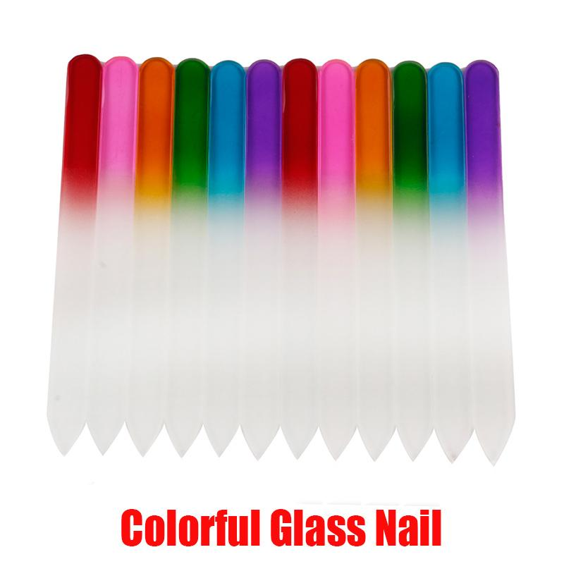 매니큐어 UV 폴란드어 도구에서 주식을위한 새로운 다채로운 유리 네일 파일 내구성 크리스탈 파일 네일 버퍼 NailCare의 네일 아트 도구