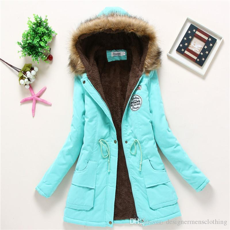 Long Sleeve Hooded Womens Outerwear Anorak Loose Thick Womens Coats With Epaulet Winter Fashion Long Parkas