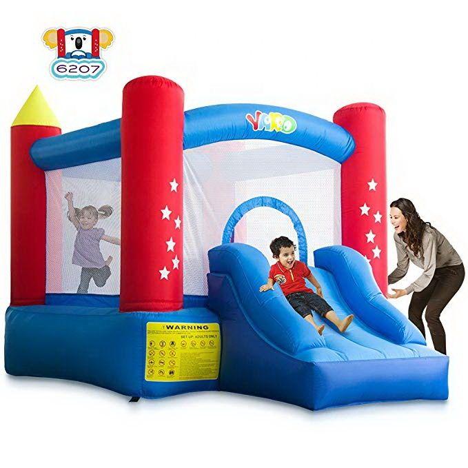 YARD Evde Kullanım Blow Up Çocuk Atlama Ev Bouncy Castle Konut Bounce House With Hava Üfleyici
