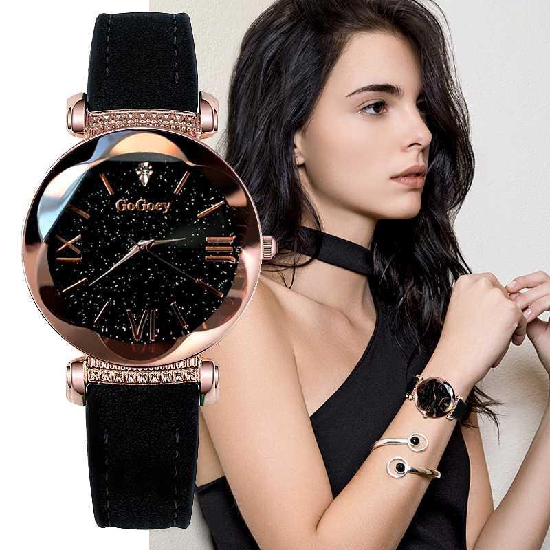 horloges Vrouwen Relojes Gogoey Marca las mujeres del reloj de las mujeres del reloj de señoras cielo estrellado Relojes para las mujeres Montre femme