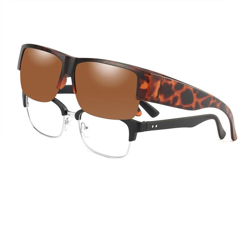 Vazrobe Fit Over Glasses Polarized Sunglasses Men Women Driving Day Night Anti Glare Reflect UV400 Prescription Eyewear
