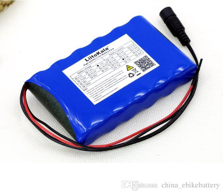 Frete grátis AU UE US recarregável 12V li ion bateria 5.2AH 18.650 baterias de lítio com 1A Carregador
