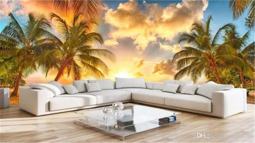 3d Wallpaper Sunrise Image Seascape Coco Living Room Bedroom Background Wall Decoration Wallpaper