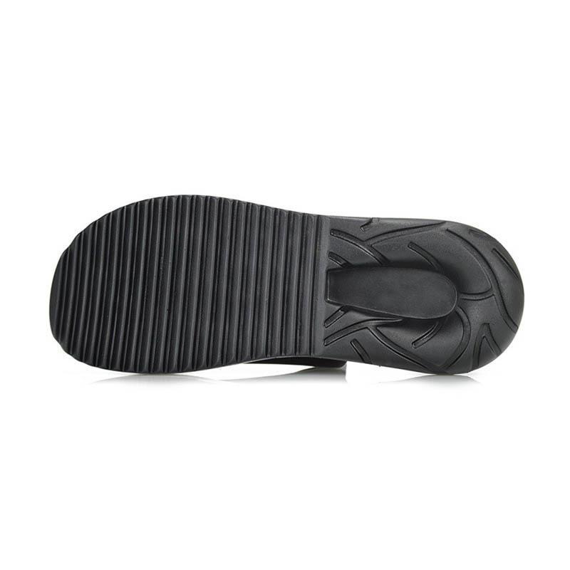 Slip On Men Casual Shoes maschio sandalo nuovo modo del cuoio genuino piatto marchio coreano stile di alta qualità inferiore spesso Large Size 45