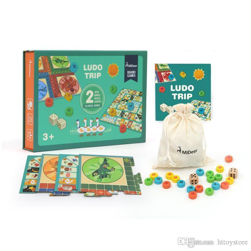 htt Children Board Game Voar Chess Multi-funcional Educação Infantil frente e verso Board Game Brinquedos Educativos