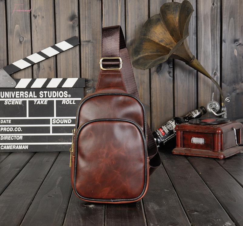 Крестная сумка на груди Хорошая диагональная капля винтажная сумка на плечо кожа Adxxu мужская доставка качества PU CBPMM