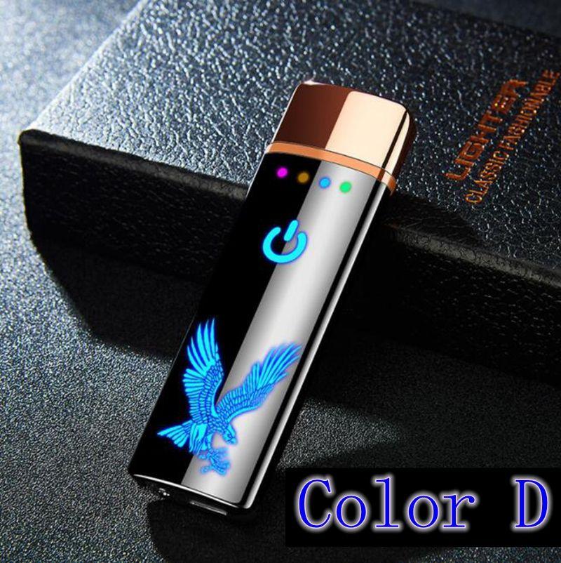 Neues buntes USB-Feuerzeug Weitere Farbmuster Innovatives Design Zyklische Aufladung für Zigarettenpfeife mit Pfeife