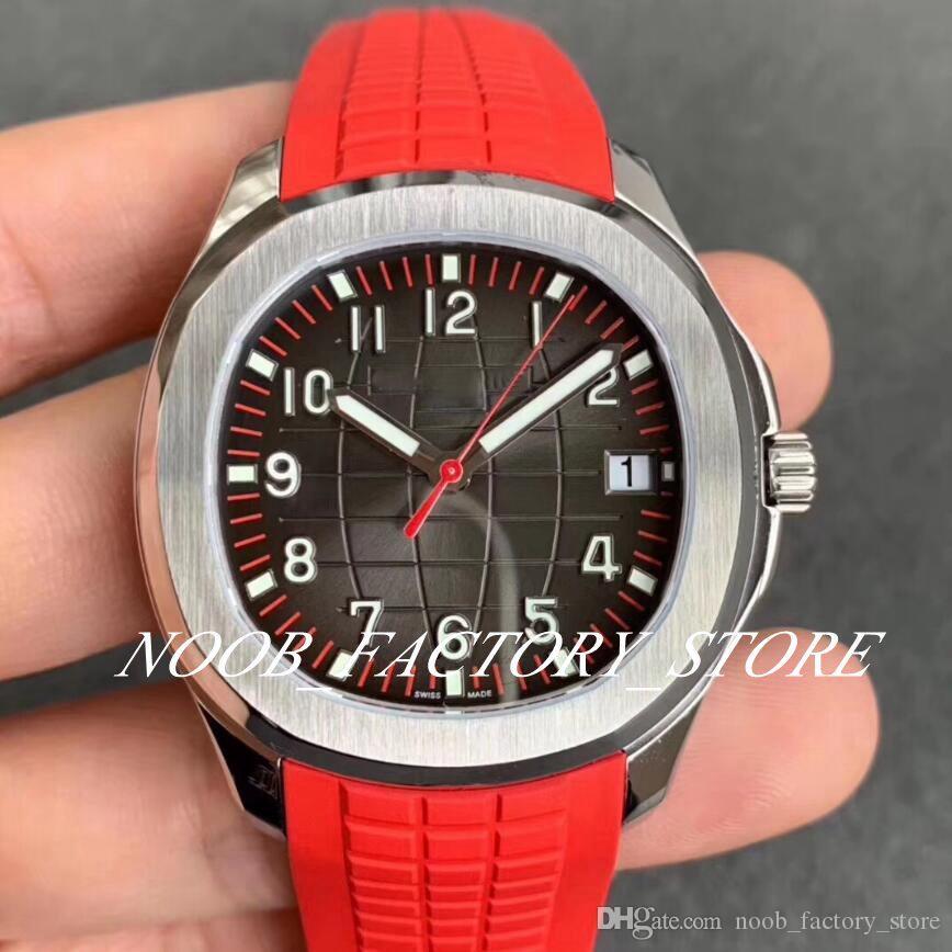 Luxo ZF fábrica 5167 Aço Série 5167A Dive 40 milímetros Mens Relógios Red Rubber Strap inoxidável Bezel Cal.324 S C pulso automáticos