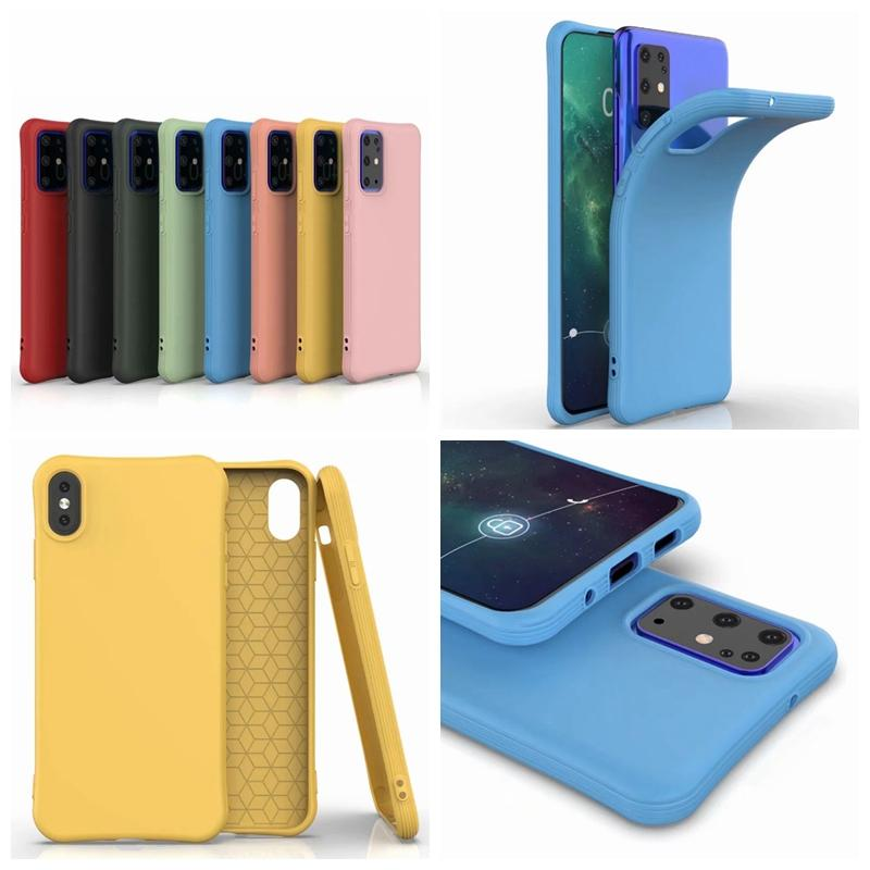 Slim Soft Liquid Silicone Case For Samsung S20 Plus Ultra A51 A71 A30 A50 A70 S10 Shockproof Gel Anti Fall Ultra-thin Back Skin Phone Cover