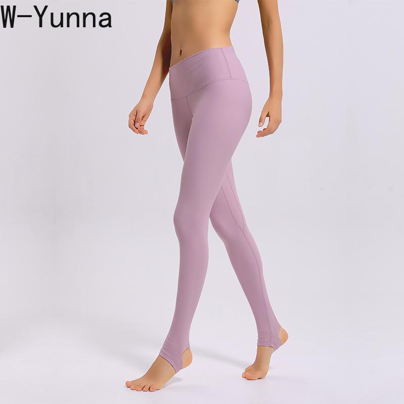 W-Yunna High Waist Foot Step Activewear Dance Fitness Legging Women Skinny Bodybuilding Breathable Sporting Pink Leggings Pants