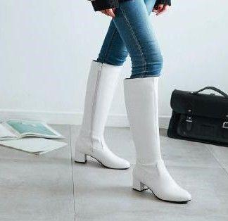 Nueva llegada Ofertas calientes de la venta Súper moda Influx Martin más terciopelo algodón Mujer de cuero Sexy Estudiantes tacones de gran tamaño botas EU31-45