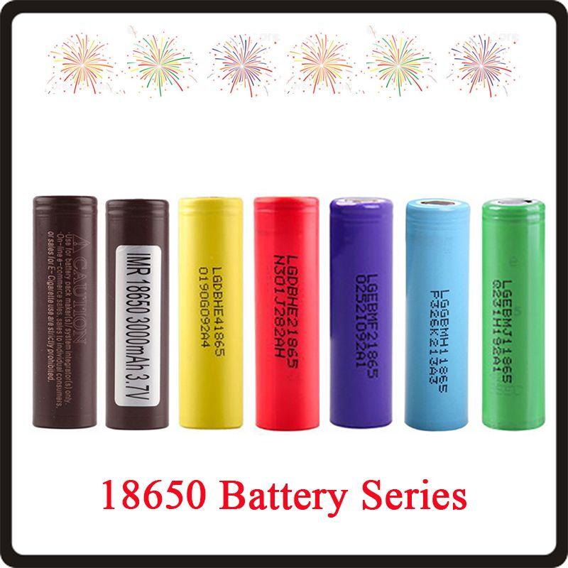 18650 batteria HG2 3000MAH HE4 HE2 2500mAh MF2 2200MAH MH1 3200MAH MJ1 3500MAH Max 35A Batterie ad alto drenaggio Batteria al litio ricaricabile Fedex