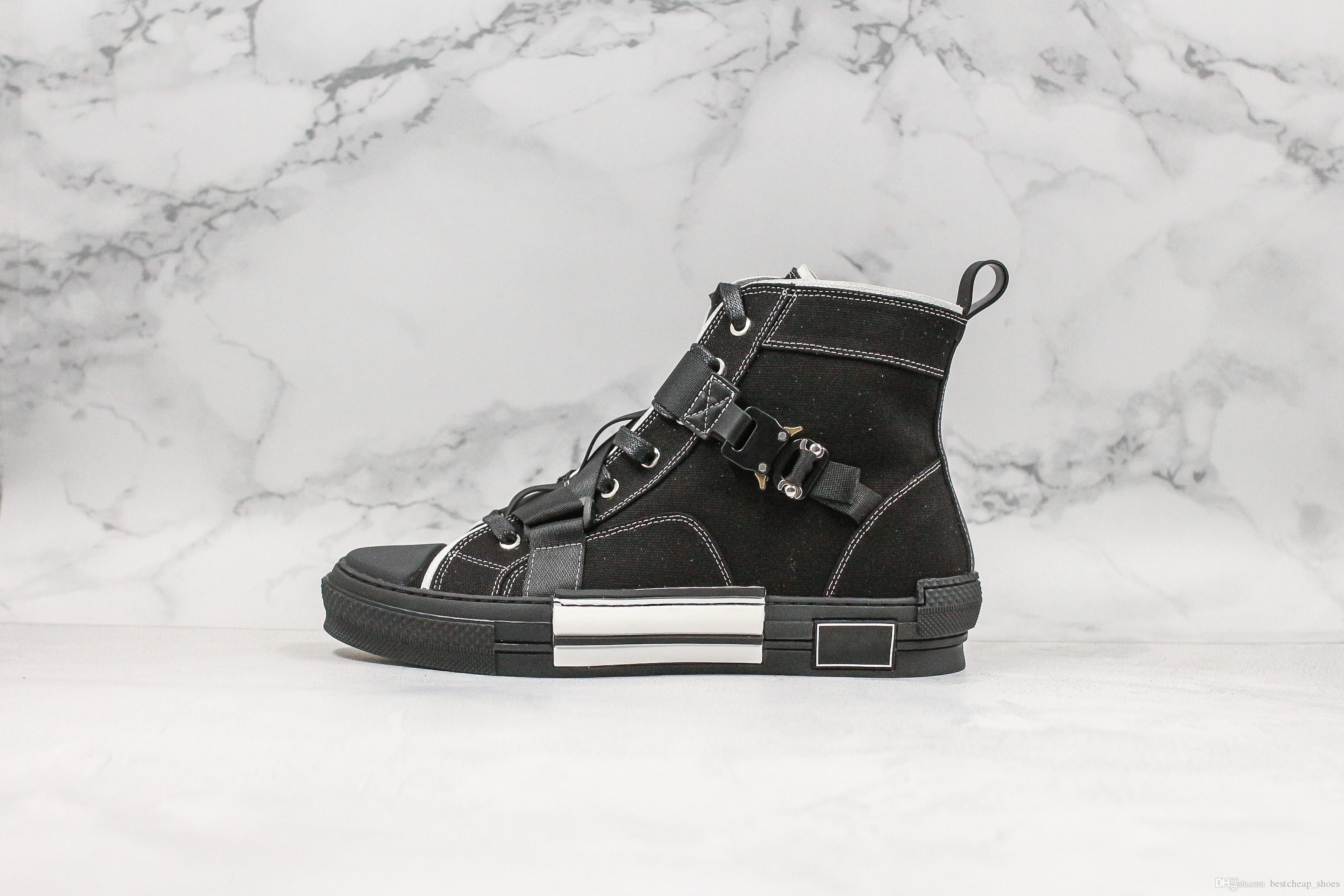 19SS B23 oblicua Negro hi-top calzado oblicuos para hombre zapatos de diseño de lujo para mujer de moda las zapatillas de deporte ocasionales del tamaño 36-44 Formadores