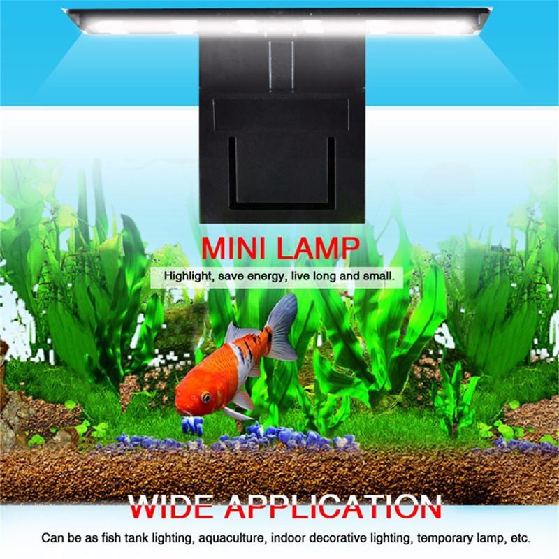 Akvaryum LED Aydınlatma Tesisleri Lamba # üzerinde Clip-Light Fish Tank Su geçirmez büyütün