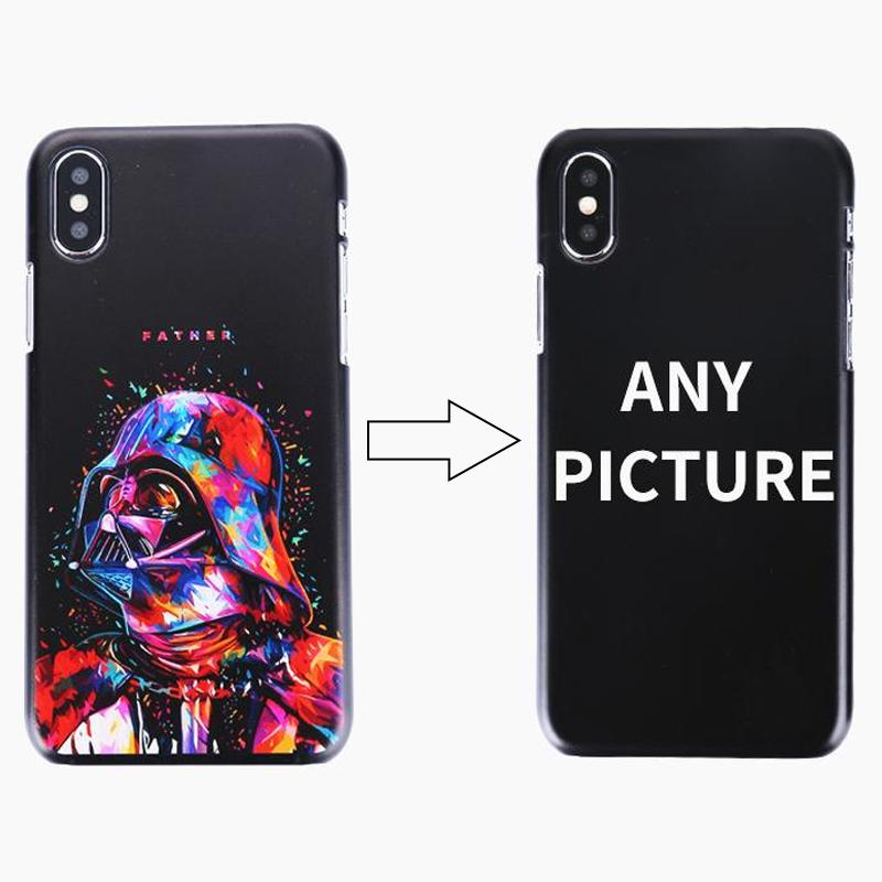 50pcs Custom Design DIY Logo/Photo Hard Phone Case For iPhone 4 4S 5 5S SE 6 6S 7 Plus Customized Printed Back Cover