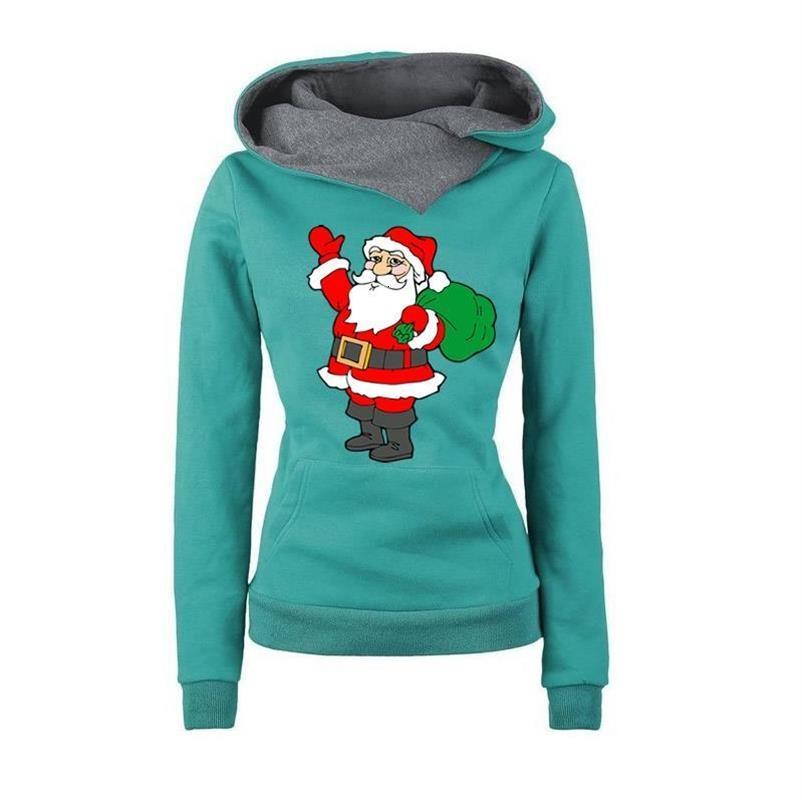 Hoodies für Frauen Santa Revers Plus Claus Sweatshirts Weihnachten Hoodies Tops Drucken Lose Frauen Druck Frauen Mädchen Mit Kapuze Größe Dhaqa