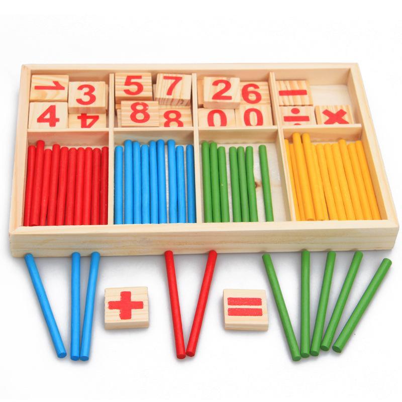الاستخبارات الساخنة كبيرة اللعب الرياضيات مونتيسوري خشبية المواد اللون الإضاءة حساب وأوائل لعبة تعليم بيع جديد