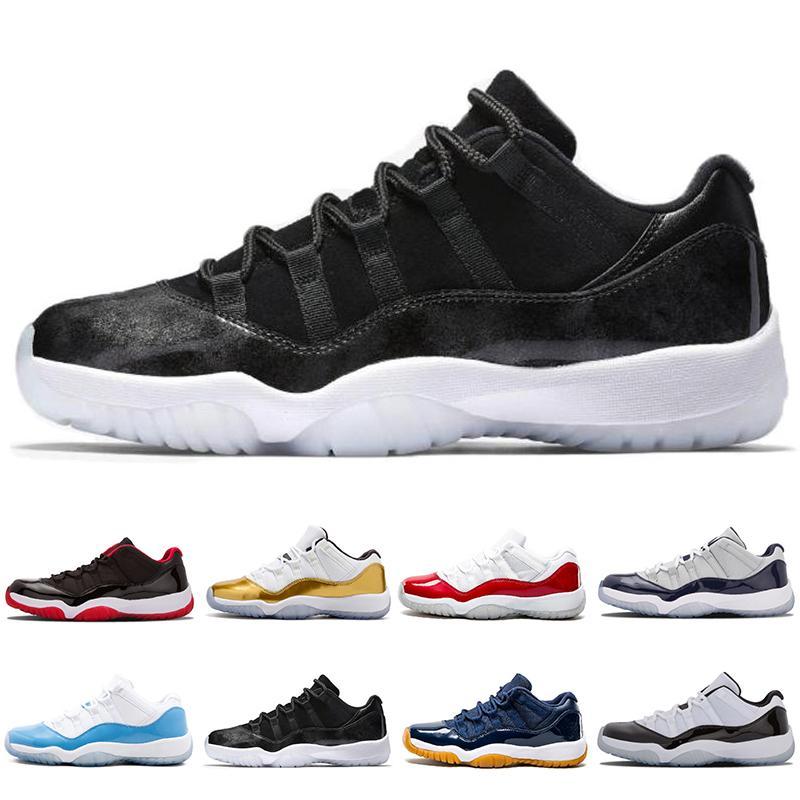 2018 11 Männer Basketball Schuhe 2017 Concord 11s Sport Sneaker Low Metallic Gold Navy Blau Weiß Rot Bred 8 Farben Größe US 7-12