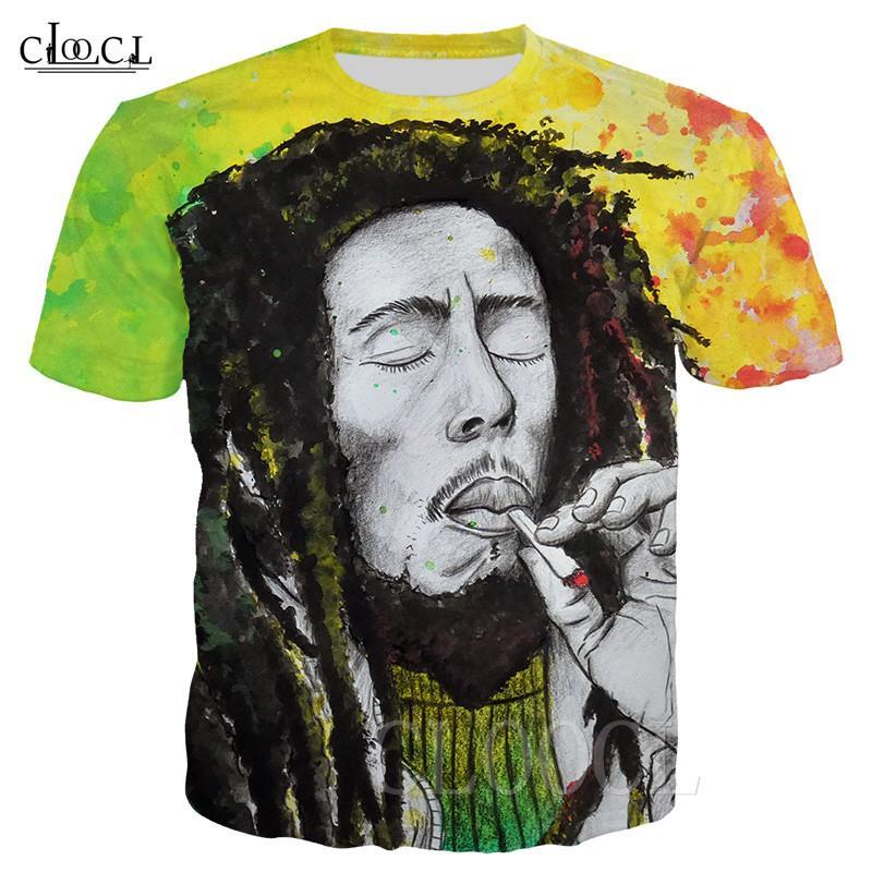 Beliebte Summer Cool-T-Shirts 3D-Druck Reggae Schöpfer Bob Marley Rock-Hip Hop-Mann-Frauen-T-Shirt Street Bunte T-Shirt Tops