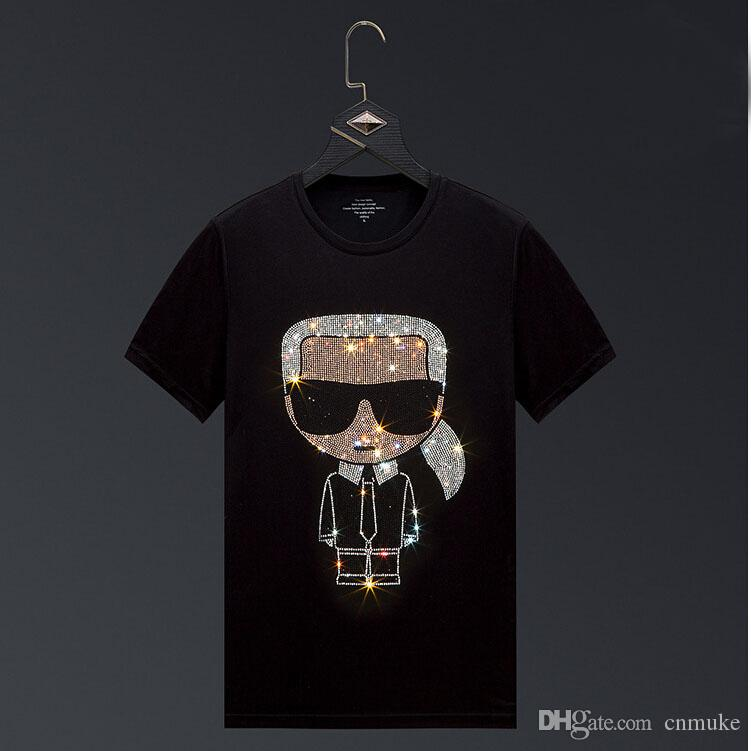 2020-venda quente Hot broca T Shirt Men Masculino tshirt 3d Clown manga curta Pedrinhas camisetas cobre T