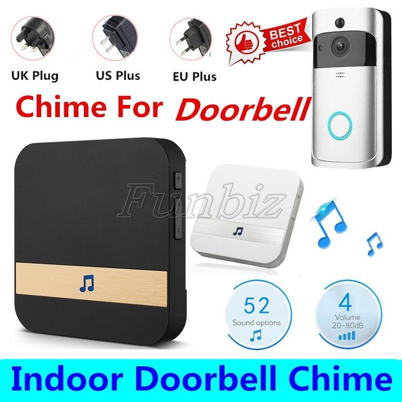 Wireless Doorbell Plug-in Chime External Welcome Door bell with WiFi App Voice Tips for Visitors Waterproof Bell No battery EU US UK Plug