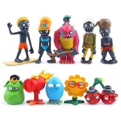 Brinquedos Presentes Planta Zombies Modelo 10pcs / set Plants vs Zombies Snowman Miner Dolls 3-7.7cm PVC coleção bonito Figuras