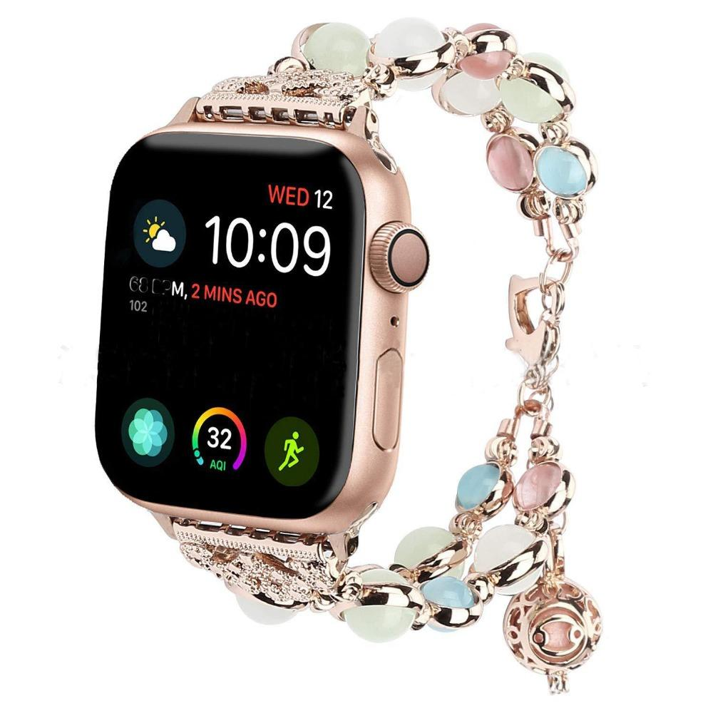 DIDI Apple Watch 4 Band Series 4 3 2 1 Bracelet Gold Stainless Steel Strap for Apple Watch Bracelet 42mm for Women Metal Buckle