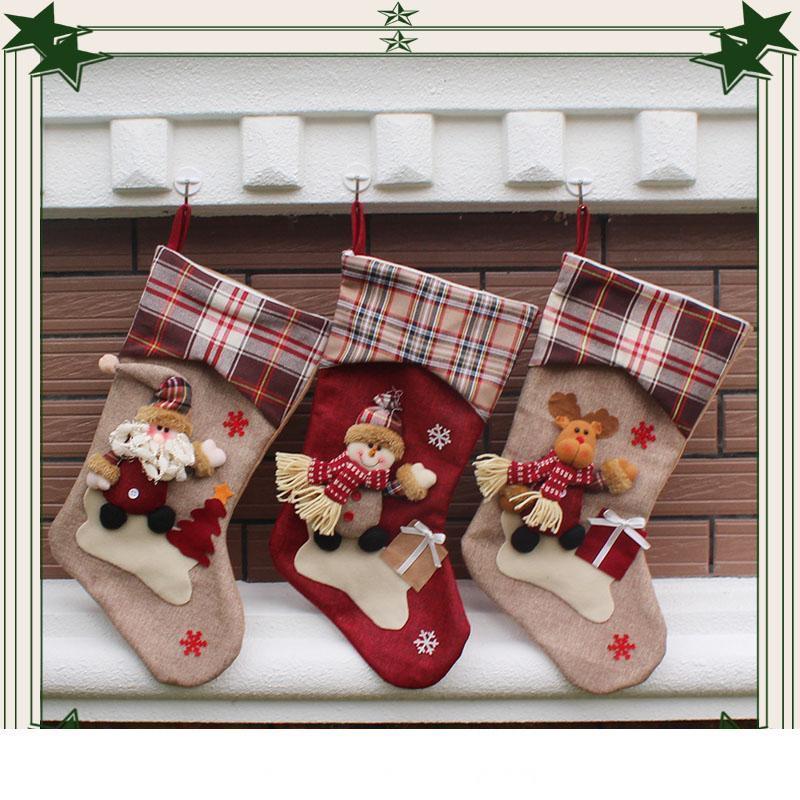 Qualitäts-großer Bruder Ski Weihnachtsstrumpf kreative Geschenke von Süßigkeiten Socken Weihnachtsstrümpfe für festlichen heißen Verkauf