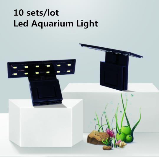 10Sets ultrasottile LED dell'acquario della lampada Fish Tank luce della spina IP X3 Fish Tank Decoration 5730SMD clip-on spina di illuminazione a LED US / EU