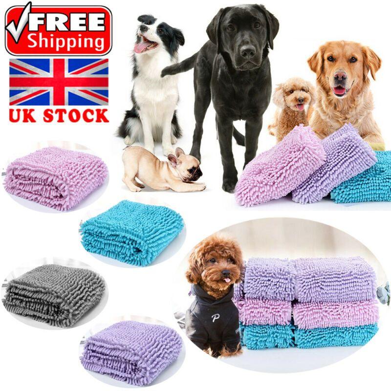 UK كلب القطة الناعمة سريع جاف الخالي من الوبر ماص منشفة حمام الألياف تجفيف القماش