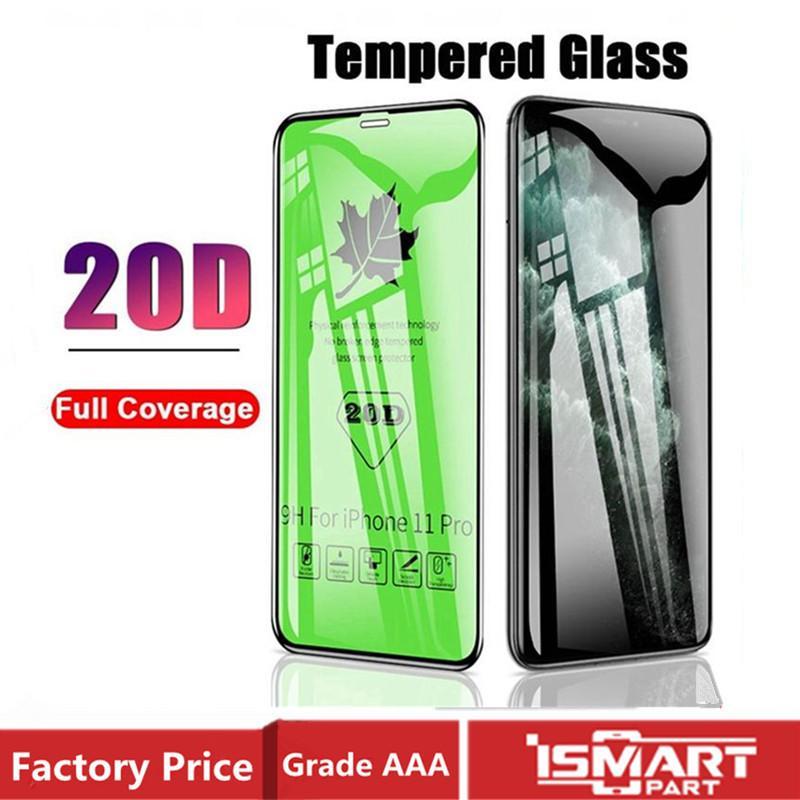 Pantalla 20D de la cubierta completa del protector para el iPhone 11 Pro max vidrio templado X XS XSMax XR 8 7 6 6S Plus a prueba de balas de cristal