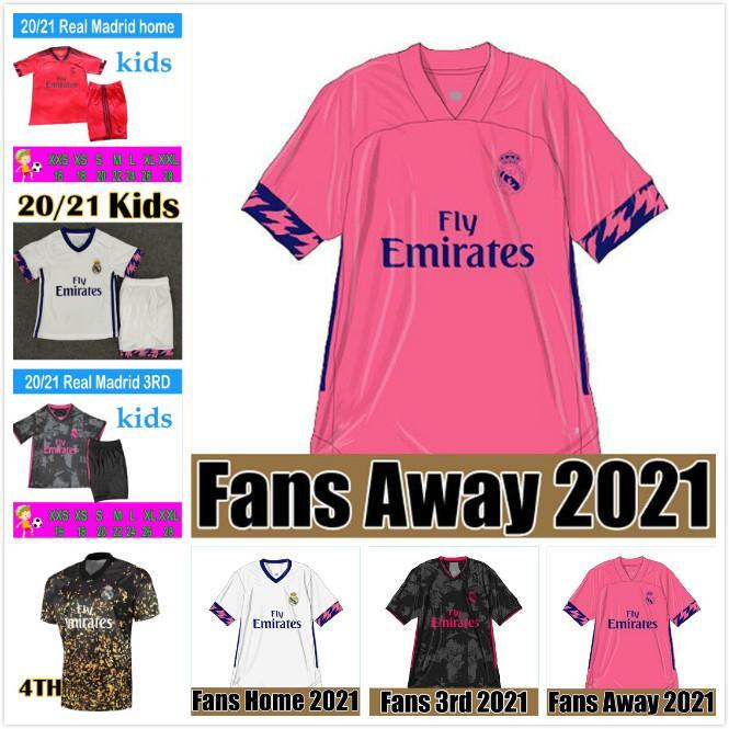 REAL MADRID jerseys 20 21 soccer jersey HAZARD SERGIO RAMOS BENZEMA VINICIUS camiseta football shirt uniforms men + kids kit sets 2020 2021