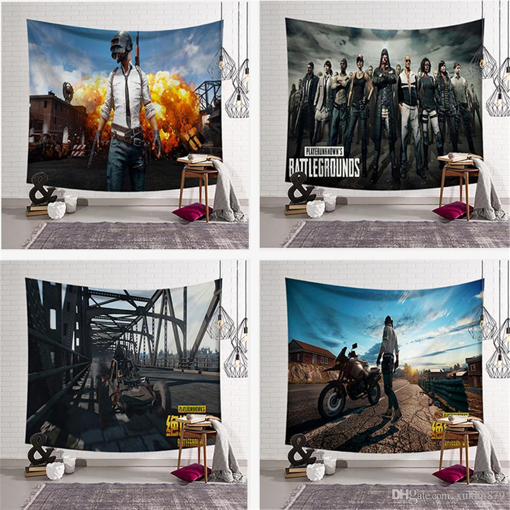 High Quality Tapestry Background Pubg Battlefield Home Cloth Beach Towel Living Room Decoration Wall decoration ECO Friendly