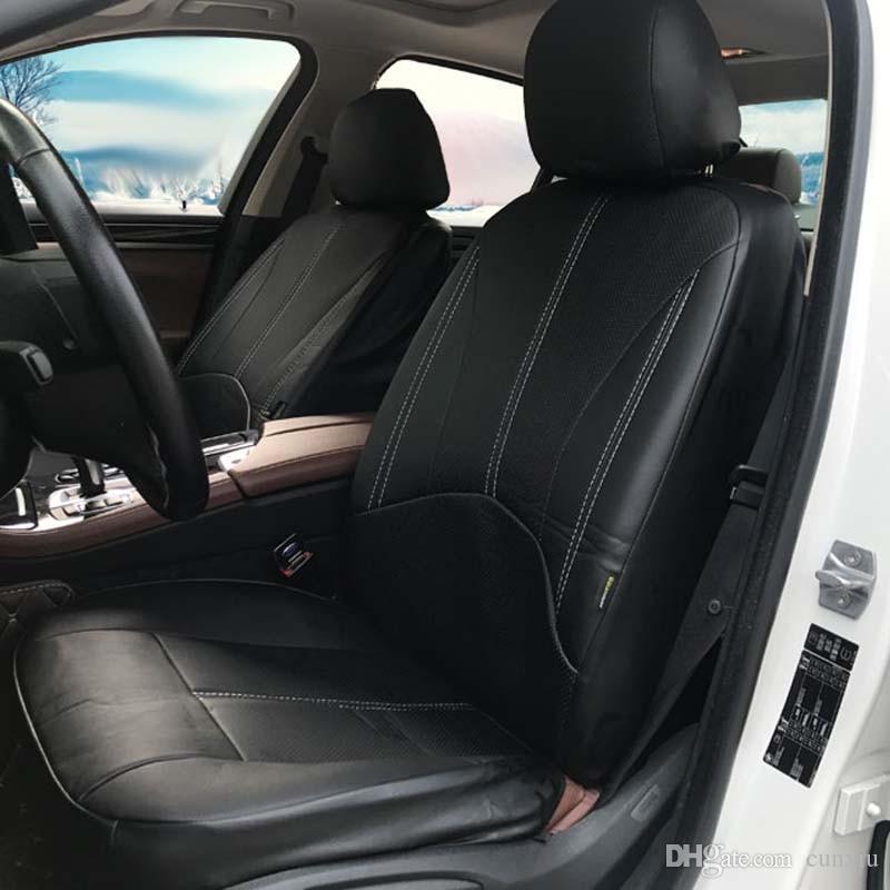 12 en conjunto completo de cubierta de asiento de coche-Rojo y Negro Paño Fiat 500