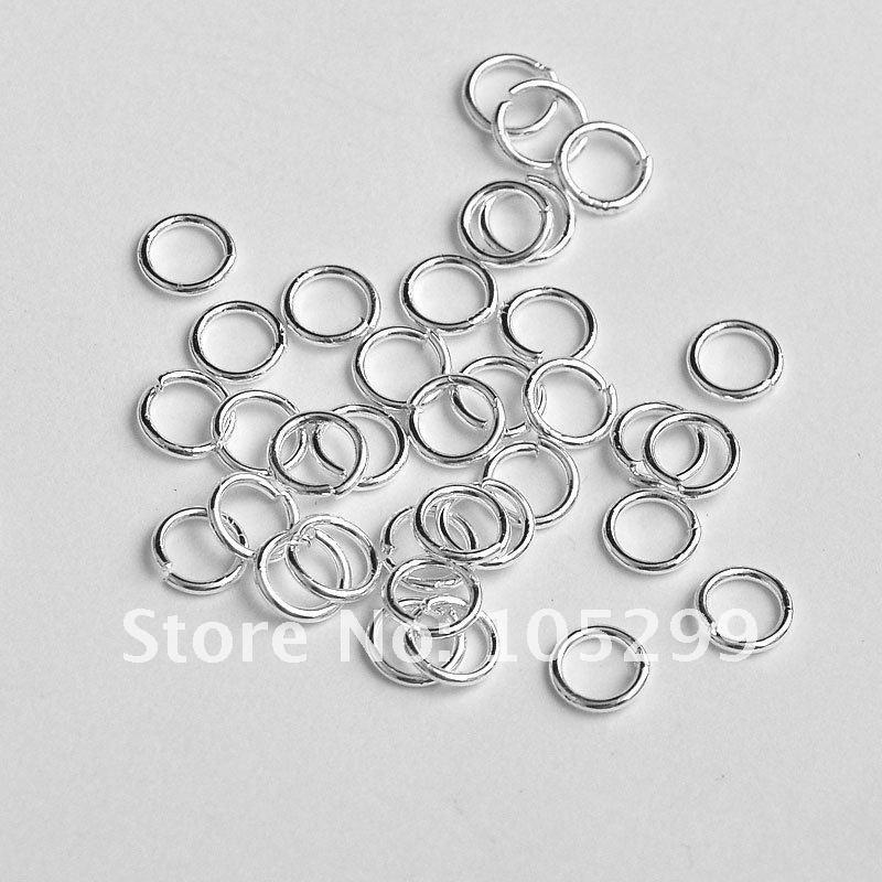 Großhandel 500 Stücke Zubehör 3/4/5/6/7/8 / 9MM 925 Sterling Silber Armaturen Top Qualität Hängenden Kreis DIY Schmuck Verbindung