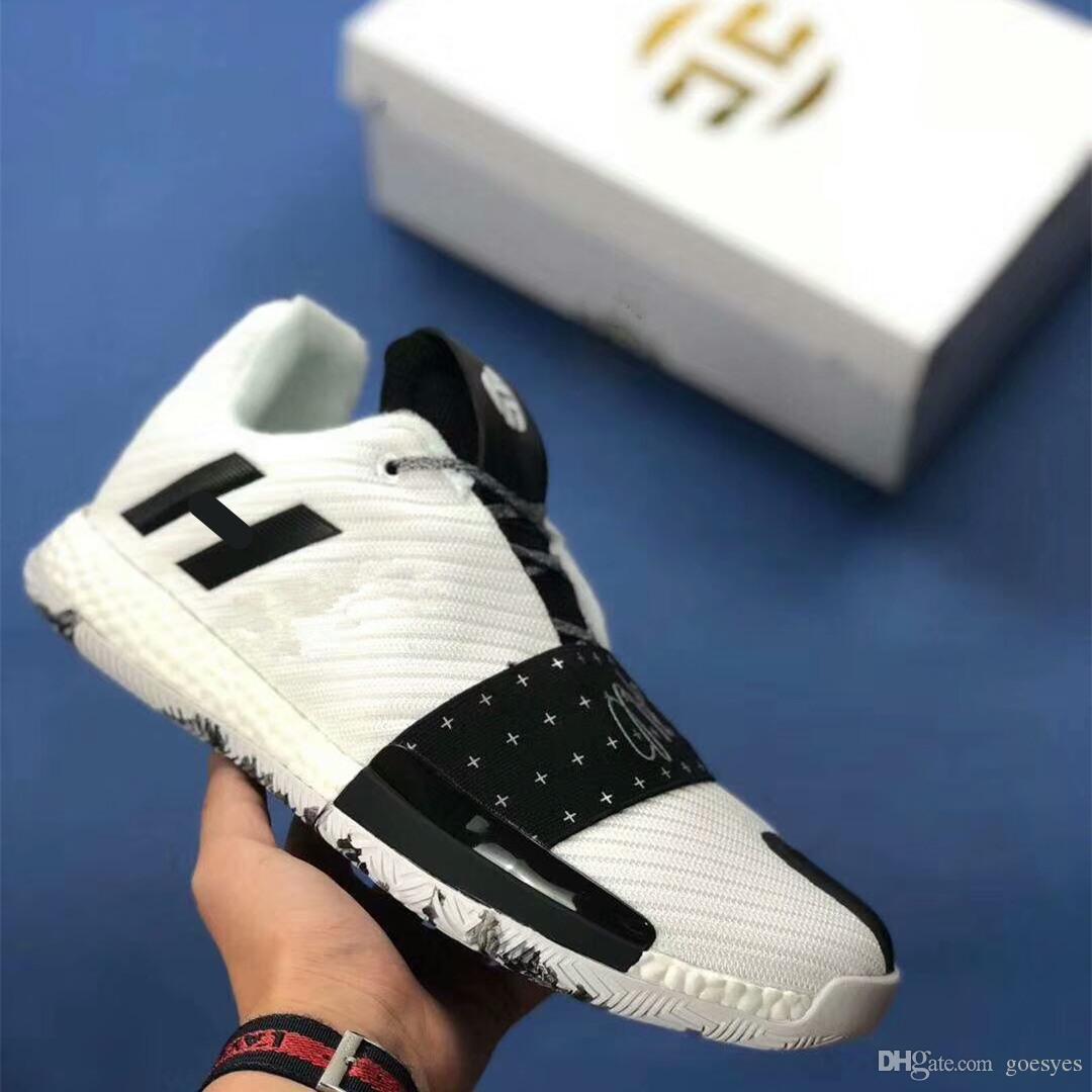 2019 New James Harden Vol. 3 tênis de basquete dos homens endurecer 3 gold / championship mvp finals formadores tênis sneakers running shoes tamanho 40-46