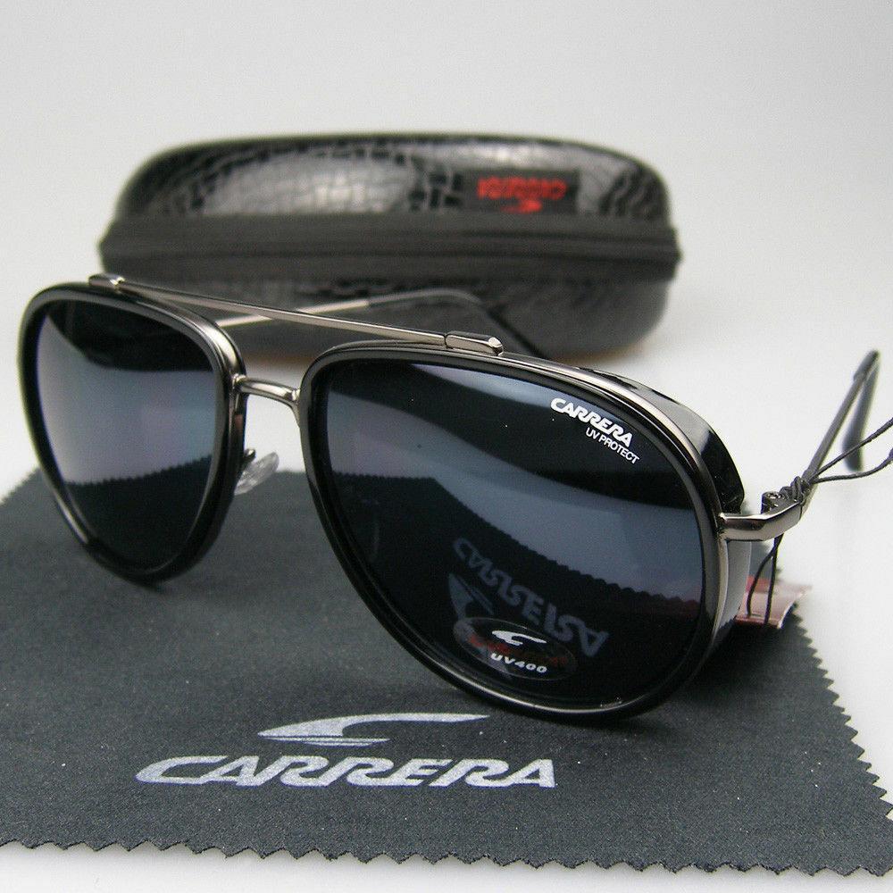 2020 Yeni Lüks Erkekler Kadın Marka Retro Güneş Moda Windproof Metal Tasarımcı CarreraGlasses C38