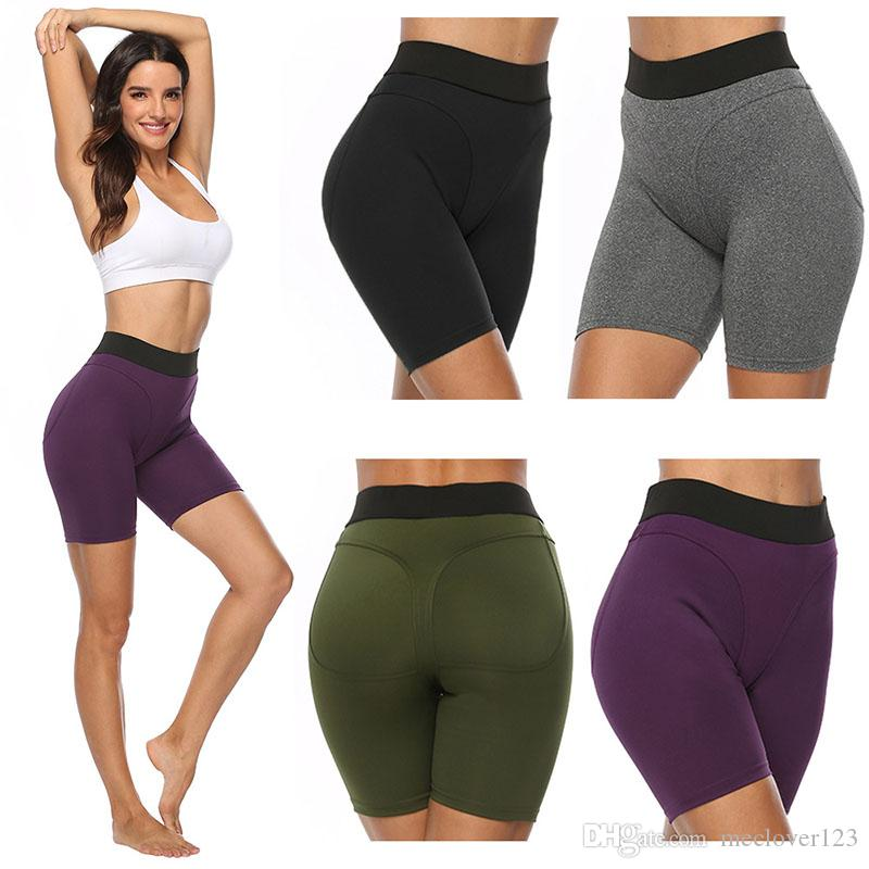 2020 High Waist Running Yoga Leggings Women Spandex Short Yoga Sports Pants High Cut Girl Tight Yoga Shorts From Meclover123 7 44 Dhgate Com