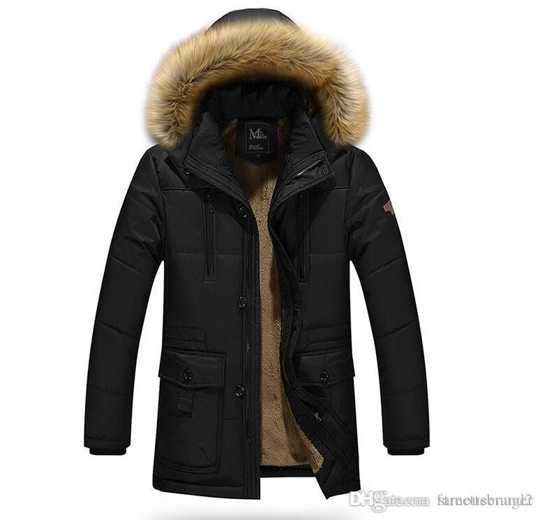 Caliente del invierno del Mens gruesas chaquetas diseñador Escudo abrigos con capucha Fleece Jacket anti frío