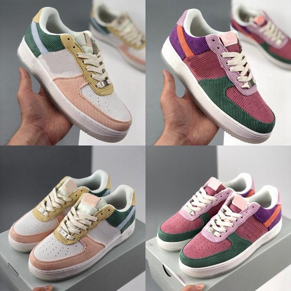 2020 Mujeres bajo niñas caramelo Macaron zapatillas Deportes uno Monopatín pana zapatillas de color rosa púrpura verde al aire libre fuera des Chaussures