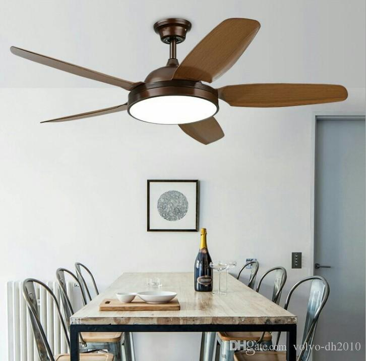 2021 Industrial Ceiling Fan Lamp American Color Dimmin Fan Light Simple Wooded Indoor Lighting 110v 220v Llfa From Volvo Dh2010 359 79 Dhgate Com