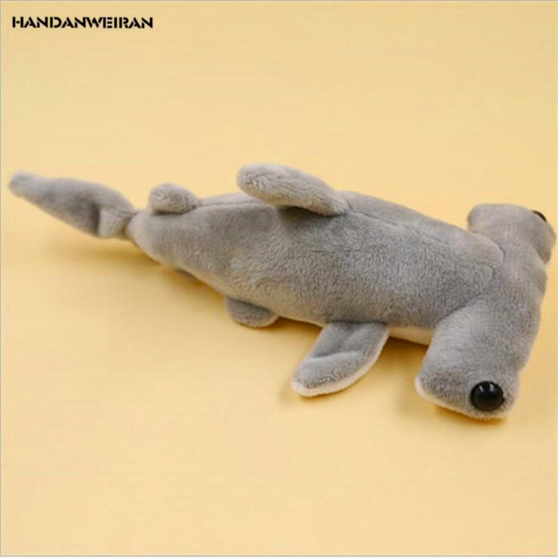 HANDANWEIRAN 1PCS حار 20CM لطيف شقة القرش محشوة لعب سلسلة البحرية المعلقات القطيفة لعبة الدمى للأطفال هدايا PP القطن