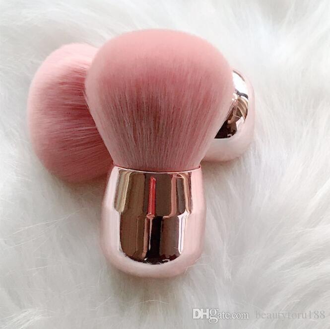 Грибной Blush кисти для макияжа Мини Мягкая щетка порошка розового золота с плоской головкой с полукруглой головкой Переносной Кисти для макияжа Симпатичные Косметические инструменты ePacket