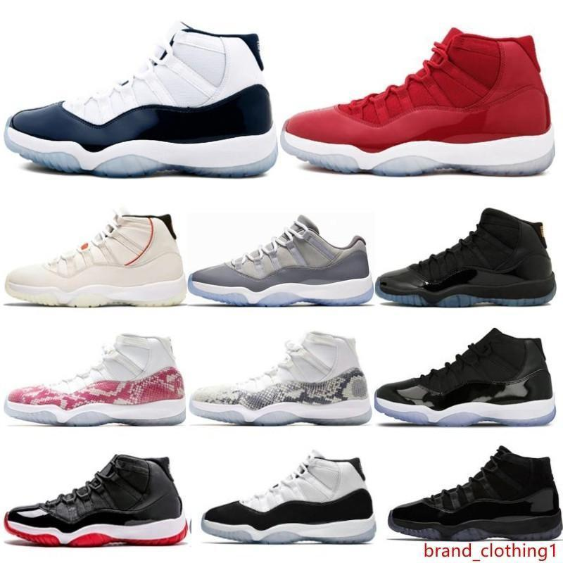 11 11'leri Cap Önlük PRM Heiress Gym Kırmızı Chicago Platin Ton spor ayakkabıları ile Spor Lisesi 45 XI Kadın Erkek basketbol ayakkabıları ruhi