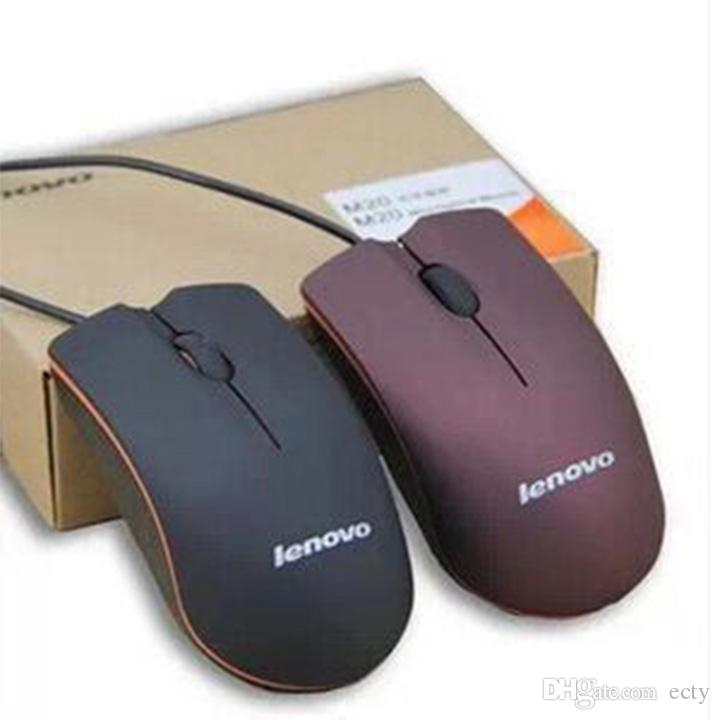 Hotsale Lenovo mouse USB Оптическая Мышь Мини 3D Проводные Игровые Мыши С Розничной Коробкой Для Компьютера Ноутбука Ноутбука Игры Lenovo M20
