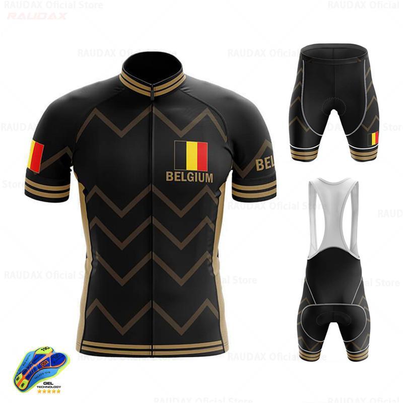 Nouveau 2020 Belgique Hommes d'été Cyclisme Jersey de haute qualité montagne Vêtements vélo Ropa Ciclismo vélos Vêtements de vélos Uniforme